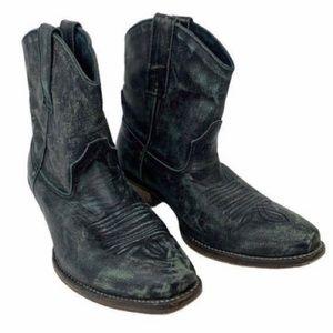 Roper Western Boots Ankle Snip Toe Black size 7